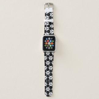 Correa Para Apple Watch Hexágonos blancos y negros de la geometría