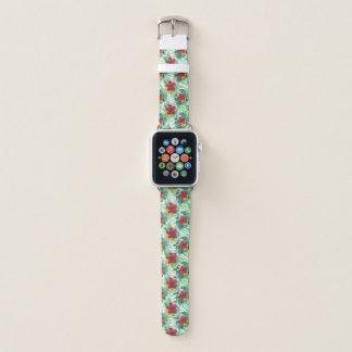 Correa Para Apple Watch Hibisco tropical de la acuarela floral