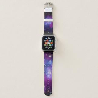 Correa Para Apple Watch Imagen púrpura del espacio del racimo de la