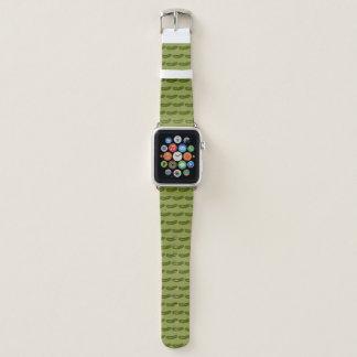 Correa Para Apple Watch Impresión kosher verde crujiente Foodie de la
