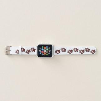 Correa Para Apple Watch Impresiones de la pata del perrito en de color