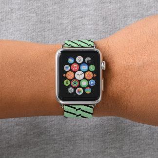 Correa Para Apple Watch Interferencia verde y negra de Chevron