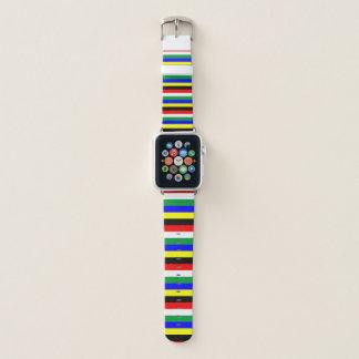 Correa Para Apple Watch La bandera de Suráfrica raya las líneas símbolo