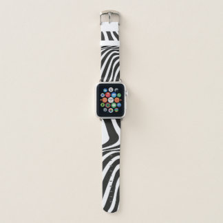 Correa Para Apple Watch La cebra raya el estampado de animales blanco y