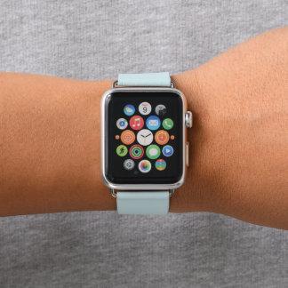 Correa Para Apple Watch La pendiente blanca de los azules claros glaciales
