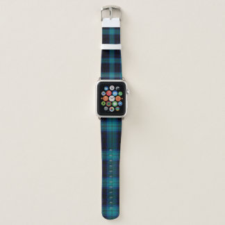 Correa Para Apple Watch La tela escocesa de tartán azul Apple mira la