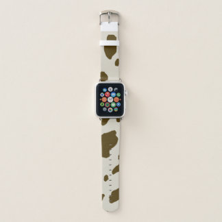 Correa Para Apple Watch La vaca animal de Brown mancha la piel de