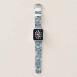 Correa Para Apple Watch Lanai apenó el hibisco hawaiano - añil