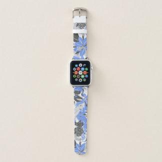 Correa Para Apple Watch Lirio tropical y Protea de Hawaii del contorno