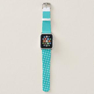 Correa Para Apple Watch Lt Blue/cinta verde azulada de la flor de Kenneth