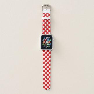 Correa Para Apple Watch Lunares blancos rojos retros