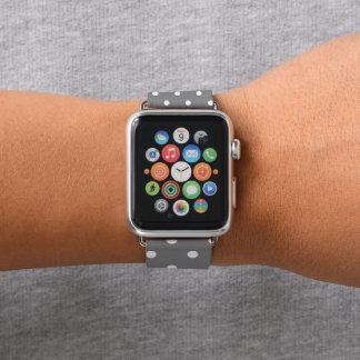 Correa Para Apple Watch Lunares grises