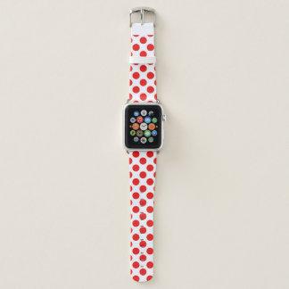 Correa Para Apple Watch Lunares rojos