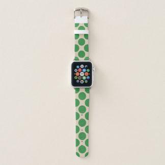 Correa Para Apple Watch Lunares verdes claros en color de encargo