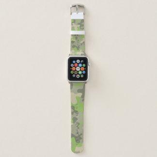 Correa Para Apple Watch Militares verdes del modelo del camuflaje