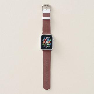 Correa Para Apple Watch Mirada de madera de bambú del grano del vino rojo
