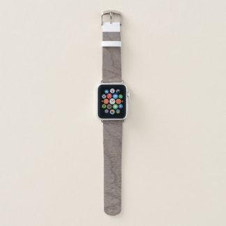 Correa Para Apple Watch Mirada de madera del grano de la nuez blanca