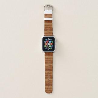Correa Para Apple Watch Mirada de madera del grano del acacia rizado de