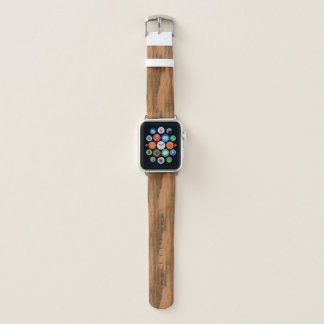 Correa Para Apple Watch Mirada de madera del grano del eucalipto natural