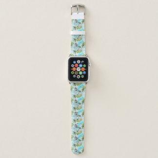 Correa Para Apple Watch Modelo abstracto de la palmera de la acuarela