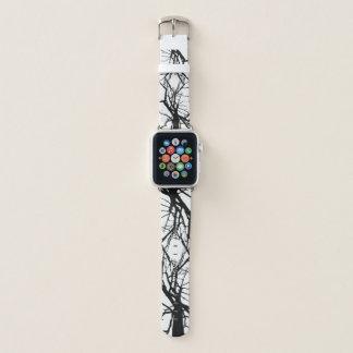 Correa Para Apple Watch Modelo abstracto de las ramas de árbol blancos y