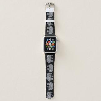 Correa Para Apple Watch Modelo adornado fresco de los elefantes en fondo
