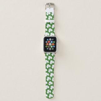 Correa Para Apple Watch Modelo afortunado irlandés del blanco del verde
