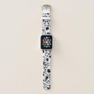 Correa Para Apple Watch modelo blanco y negro clásico del balón de fútbol