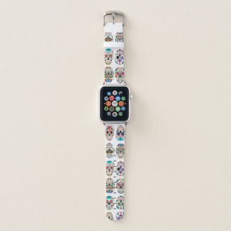 Correa Para Apple Watch Modelo colorido de los cráneos del azúcar
