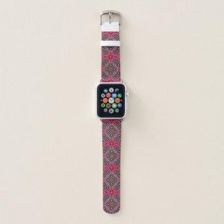 Correa Para Apple Watch Modelo colorido hermoso de Paisley, Paisley roja