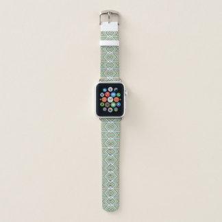 Correa Para Apple Watch Modelo de mosaico tribal del verde verde azulado