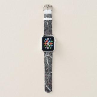 Correa Para Apple Watch Modelo de piedra de mármol blanco y gris oscuro