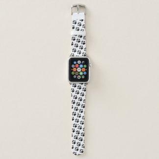 Correa Para Apple Watch Modelo del blanco del negro de la impresión de la