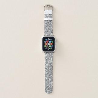 Correa Para Apple Watch Modelo del purpurina del gris y del blanco