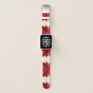 Correa Para Apple Watch Modelo geométrico rojo marrón y blanco
