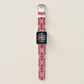 Correa Para Apple Watch Modelo japonés del medallón, de color rojo oscuro