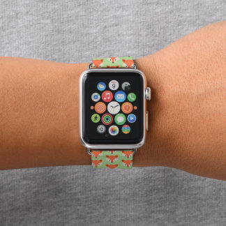 Correa Para Apple Watch Modelo lindo del Fox en verde