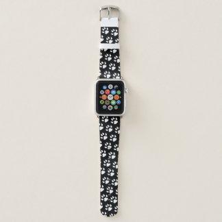 Correa Para Apple Watch Modelo negro blanco de la impresión de la pata del