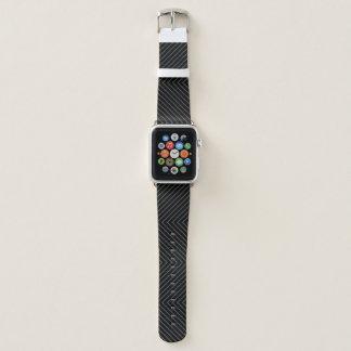 Correa Para Apple Watch Modelo negro y gris de Chevron