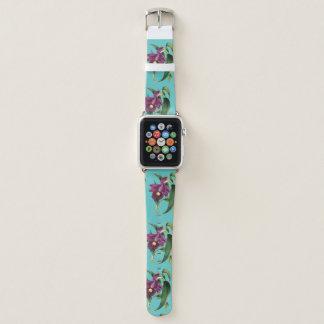 Correa Para Apple Watch Modelo púrpura del trullo de las orquídeas