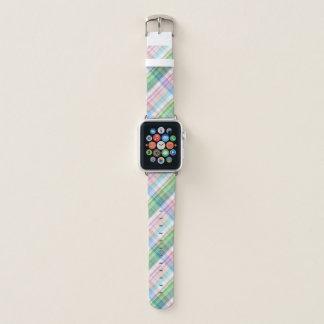 Correa Para Apple Watch Modelo rosado colorido del tartán de la tela