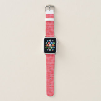 Correa Para Apple Watch Modelo texturizado rosa brillante