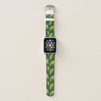 Correa Para Apple Watch Modelo verde abstracto agarrado de la hoja