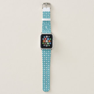 Correa Para Apple Watch Modelo verde azulado de la mariposa y de la