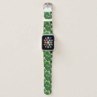 Correa Para Apple Watch Modelo verde de la caída del bosque del helecho de