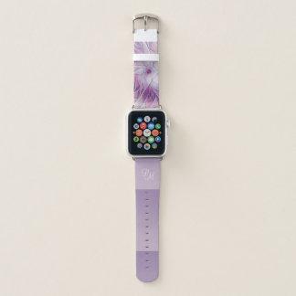 Correa Para Apple Watch Monograma abstracto moderno de la flor rosada