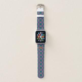 Correa Para Apple Watch Monograma del personalizado del modelo del fractal
