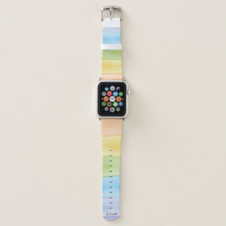 Correa Para Apple Watch Monograma. En colores pastel. Colores lindos del