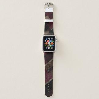 Correa Para Apple Watch moreno y extracto marrones de Borgoña