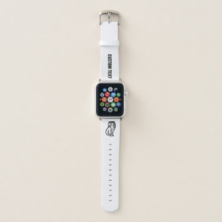 Correa Para Apple Watch Negro del símbolo del búho